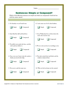 Printables Quiz On Types Of Sentences Simple Compound Complex Compound-complex simple compound and complex sentence quiz proprofs quiz