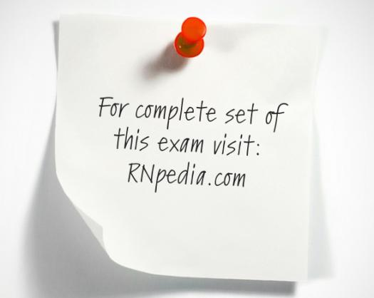 NCLEX practice test for skin and integumentary diseases 1 (exam mode) by rnpedia.com