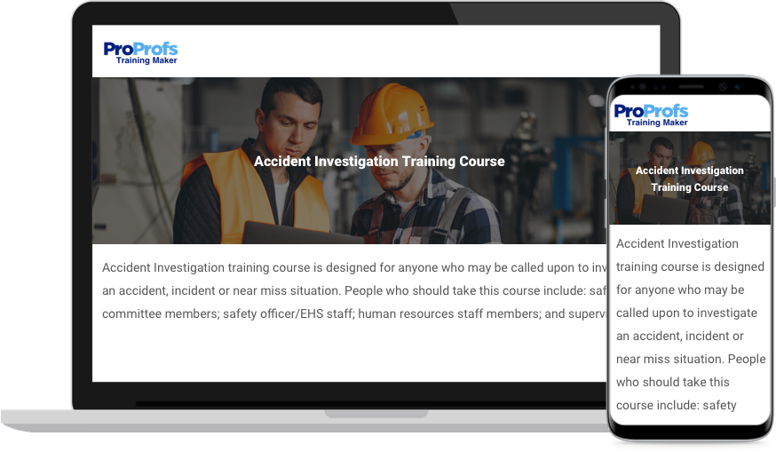 Online Accident Investigation Training Course