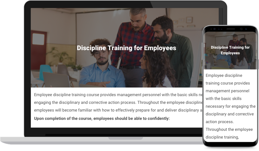 Discipline Training Course for Employees