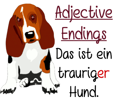 Year 9 - Adjective Endings - Test