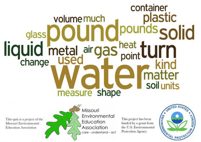 Early Elementary Environmental Literacy - Matter