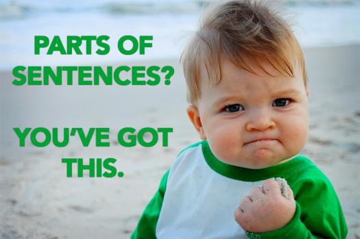 Parts Of Sentences Test Shaw 1b