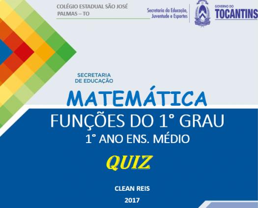 Quiz Fun��es Do 1� Grau