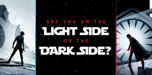 Are You On The Light Side Or The Dark Side? Star Wars Quiz