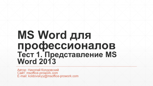 1.  MS Word 2013