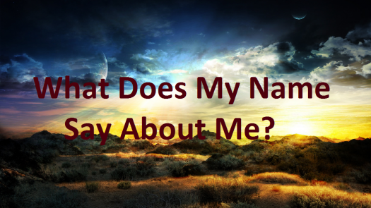 What Does My Name Say About Me?
