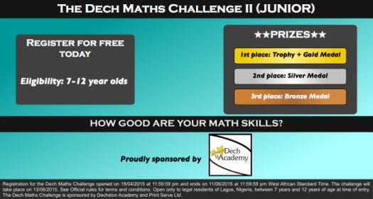 Dech Maths Challenge Practice Test II (Junior Category)
