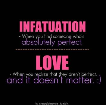Difference between love and infatuation quiz