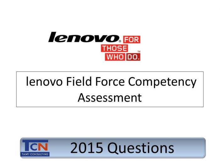 Lenovo Field Force General Competency Assessment