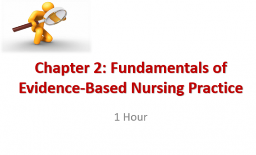 Chapter 2: Fundamentals Of Evidence-based Nursing Practice