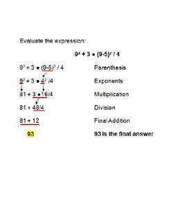 Order Of Operations No. 2