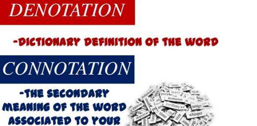 Image result for connotation and denotation