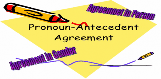 pronoun antecedent agreement