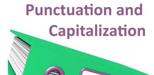 Conventions Quiz Focusing On Punctuation And Capitalization