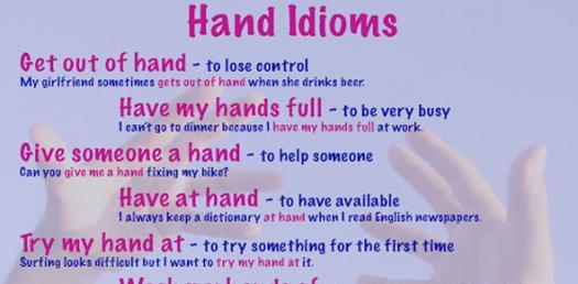 Hand Idiom Quiz