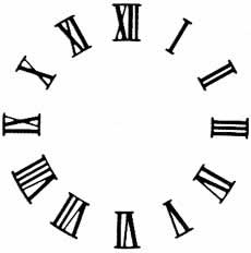 Write a date in roman numerals