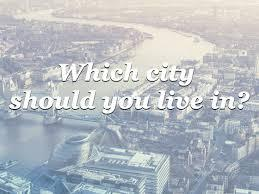 What City Should I Live In