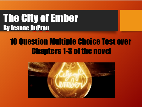 City Of Ember Ch 1-3