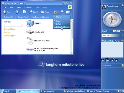 Windows Longhorn Quiz- 2004