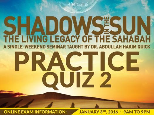 Shadows In The Sun Practice Quiz 2