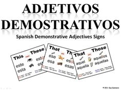 Spanish Demonstrative Adjectives Quiz - ProProfs Quiz