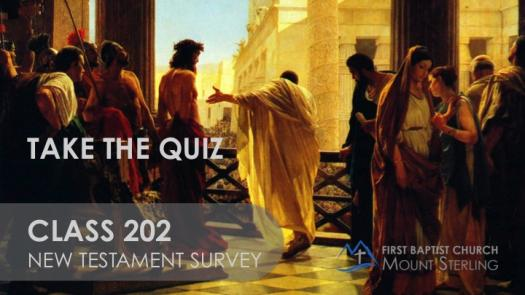 Class 202: New Testament Survey Quiz