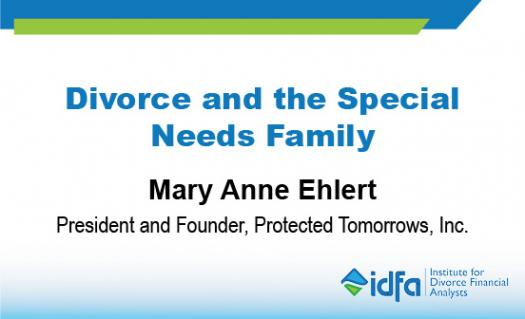 Idfa Webinar: Divorce And The Special Needs Family