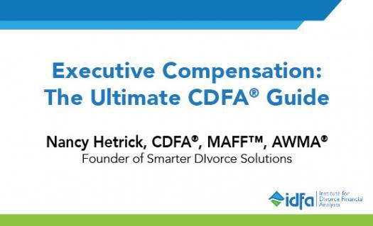 Idfa Webinar: Executive Compensation: The Ultimate Cdfa� Guide