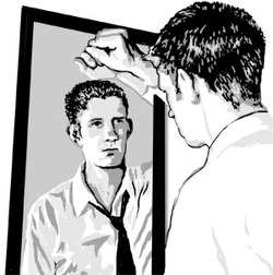 Image result for man in the mirror images