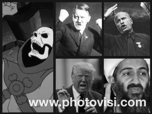 Trump, Bin Laden, Hitler, Mussolini, Or Skeletor?