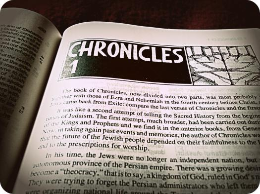 Have You Read The Books Of Chronicles?