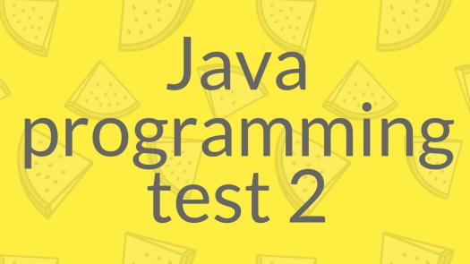 Java Programming - Level 2