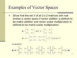What Do You Know About Vector Spaces?