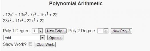 What Do You Know About Arithmetic With Polynomials?