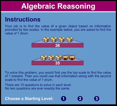 What Do You Know Abow About Algebraic Reasoning?