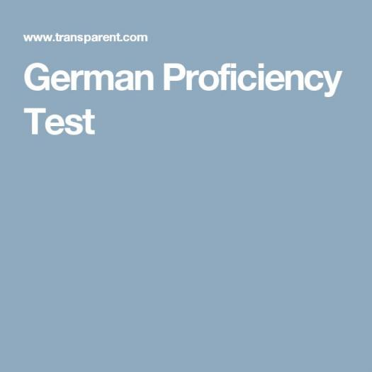 German Language Proficiency Test