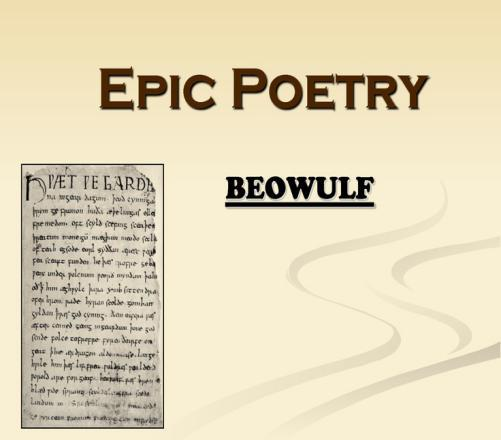 how do you know that beowulf is an epic poem