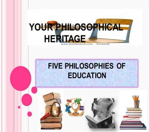 What Do You Know About Philosophy Of Education?