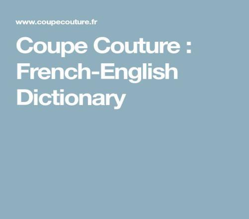 What Do These French Words Mean In English?