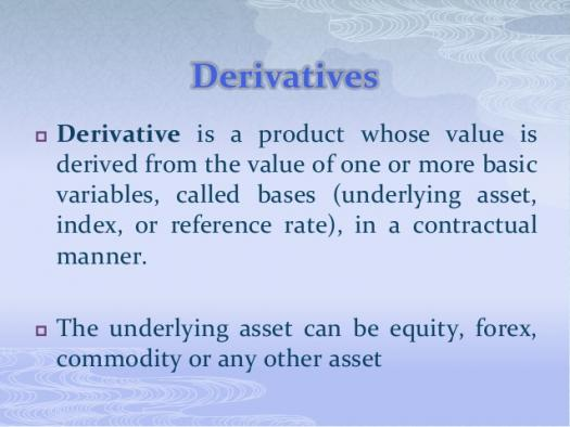 Introduction Of Derivatives Assessment Test
