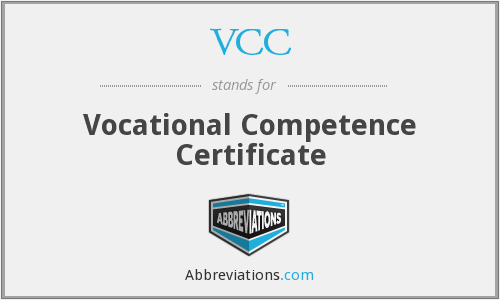 Vocational Competence Certificate Assessment Test