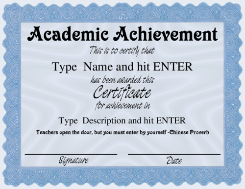 what do you know about academic certificates proprofs quiz