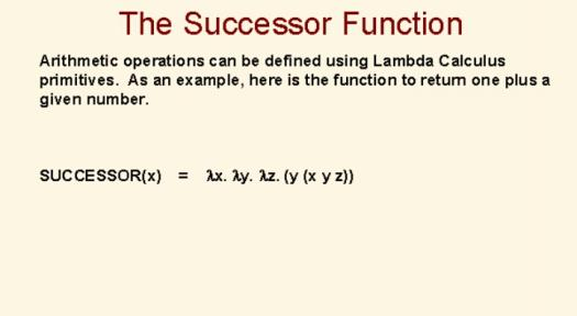 What Do You Know About The Successor Function?