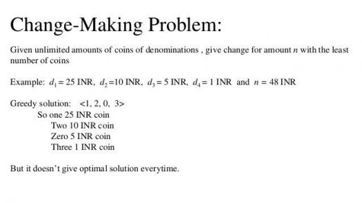 What Do You Know About The Change Making Problem?