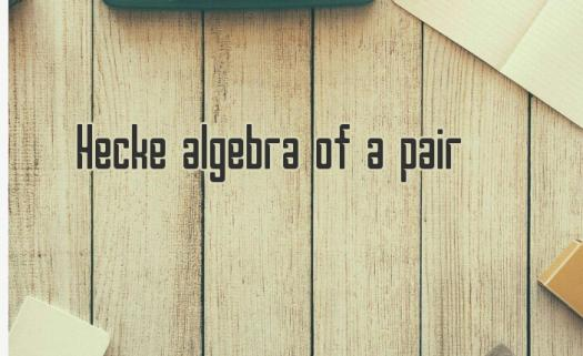 What Do You Know About The Hecke Algebra Of A Pair?