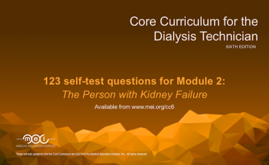 Module 2 - The Person with Kidney Failure Quiz