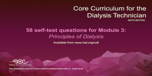Module 3 - Principles of Dialysis