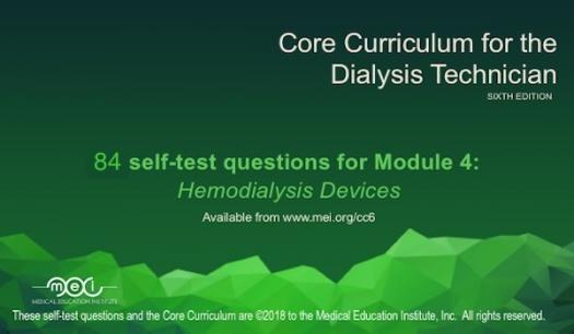 Module 4 - Hemodialysis Devices Quiz