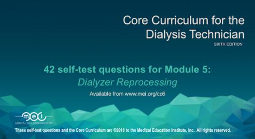 Module 5 - Dialyzer Reprocessing Quiz
